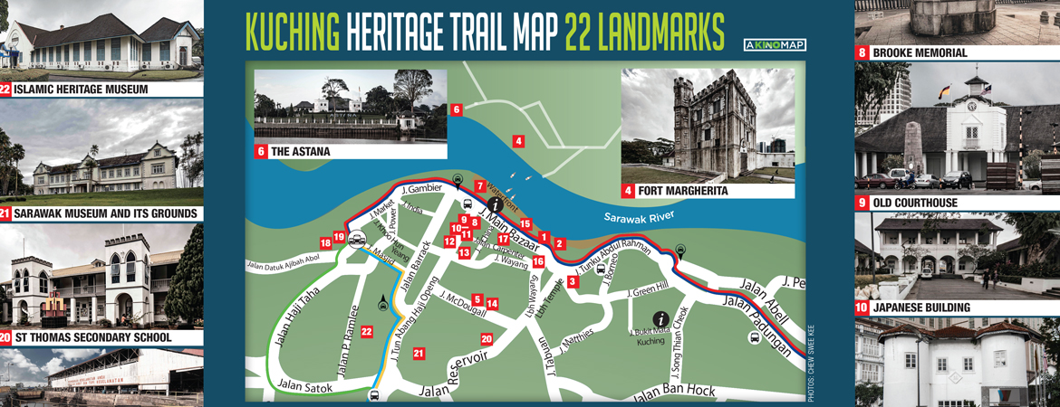KUCHING HERITAGE MAP BY KINO