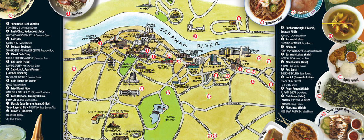 KUCHING FOOD MAP BY KINO